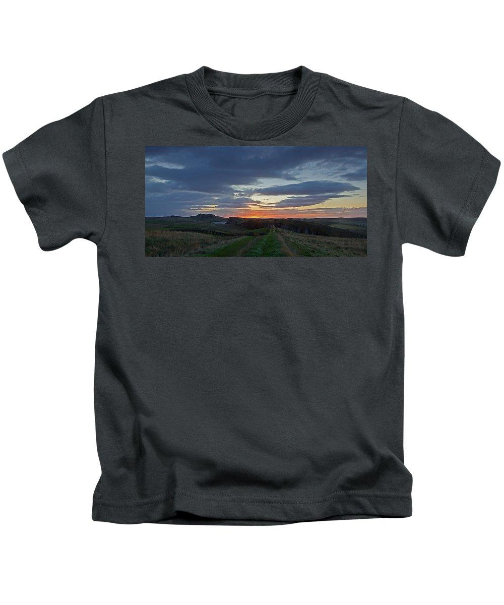 Roman Wall Kids T-Shirt featuring the photograph Roman Wall Sunrise II by David Pringle