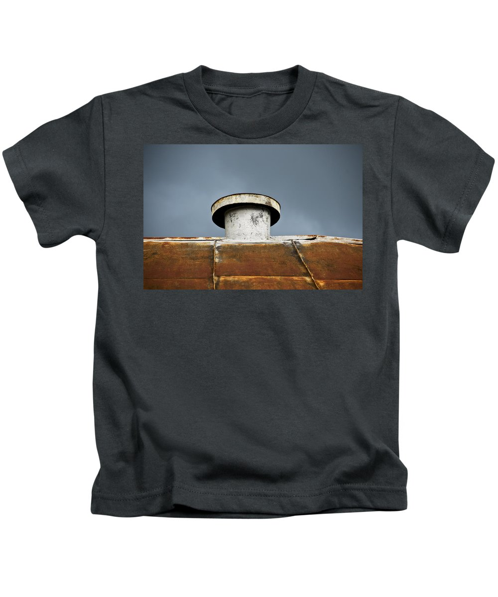 Abstract Kids T-Shirt featuring the photograph Rooftop Vent by Ray Laskowitz