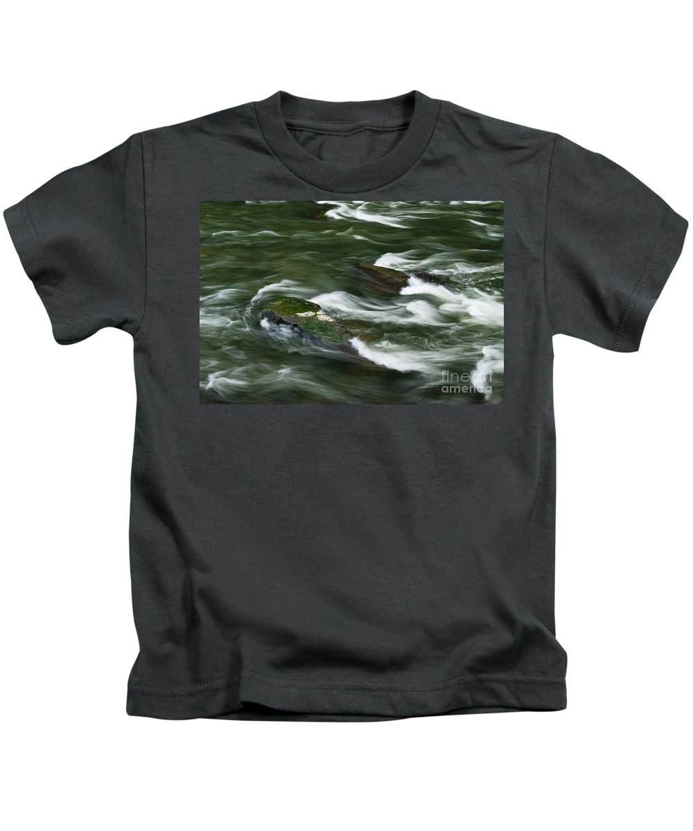 Brandywine River Kids T-Shirt featuring the photograph Rushing River by John Greim