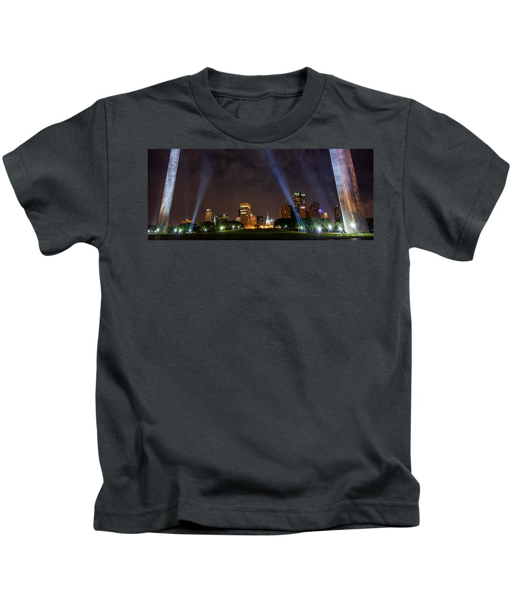 Abstract Kids T-Shirt featuring the photograph Saint Louis Lights by Semmick Photo