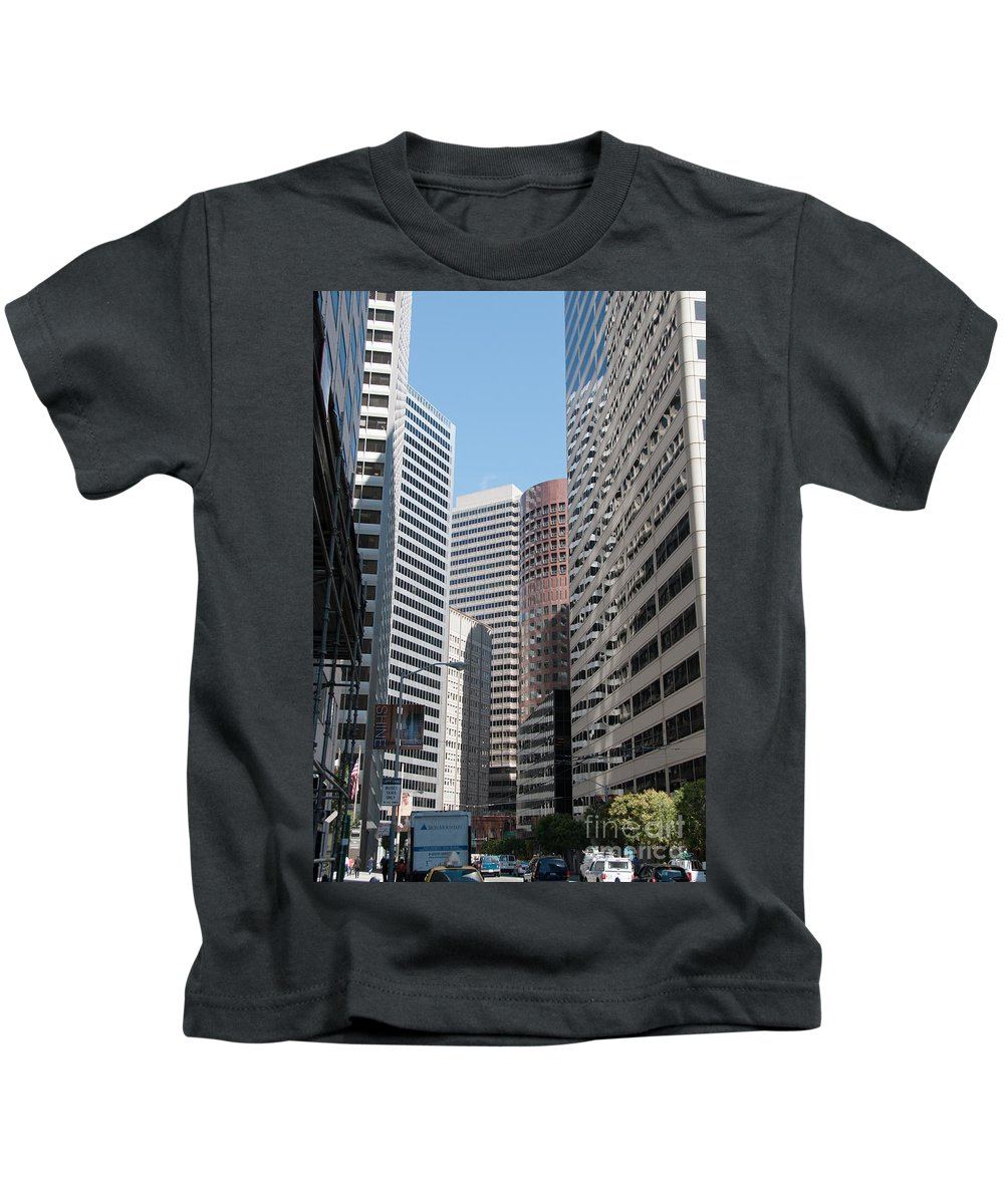 California Kids T-Shirt featuring the digital art San Francisco by Carol Ailles