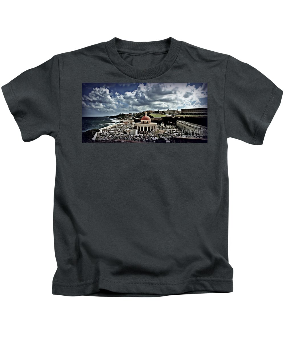 San Juan Kids T-Shirt featuring the photograph San Jaun Cemetery by Perry Webster