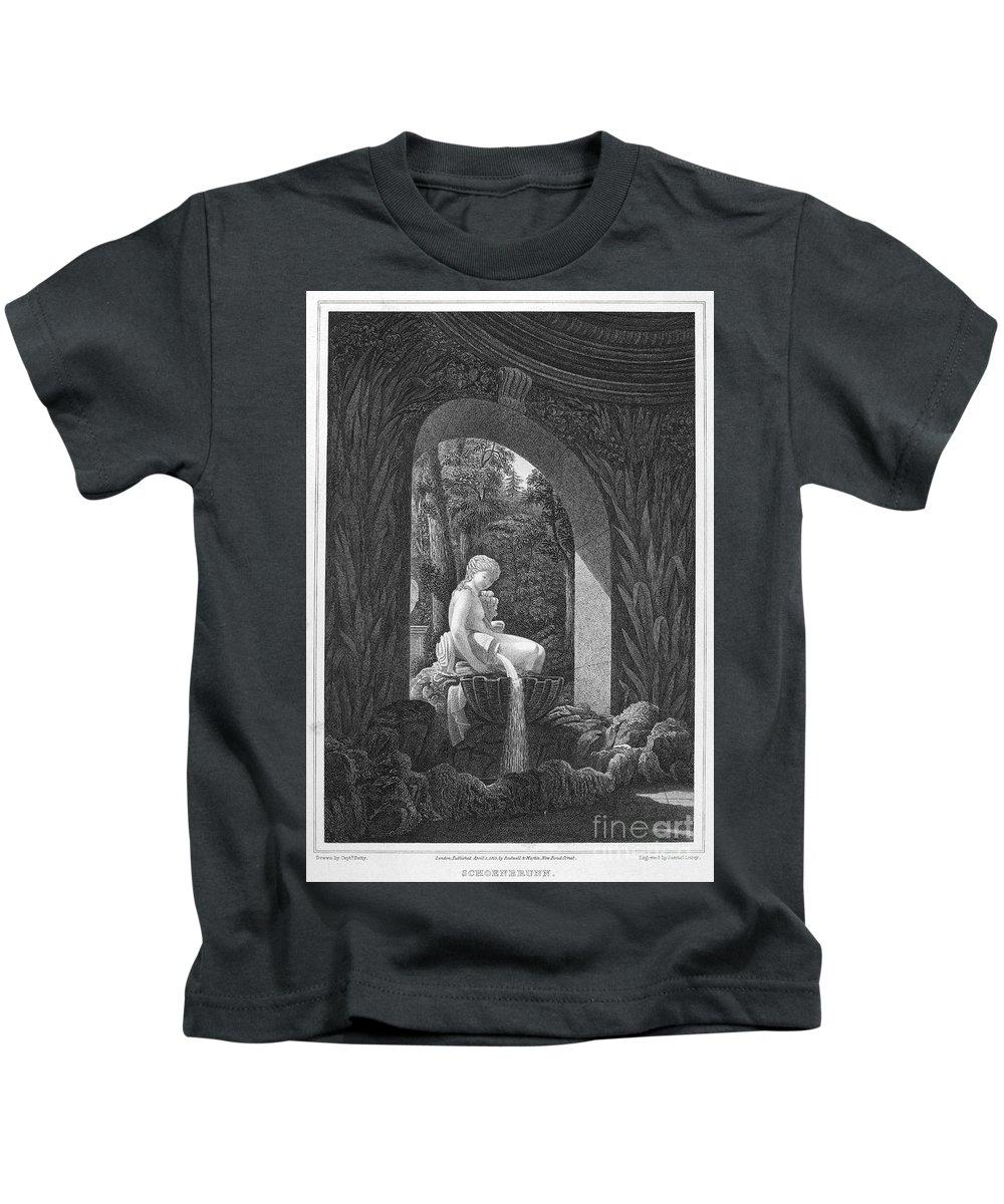 1823 Kids T-Shirt featuring the photograph Schoenbrunn Palace, 1823 by Granger