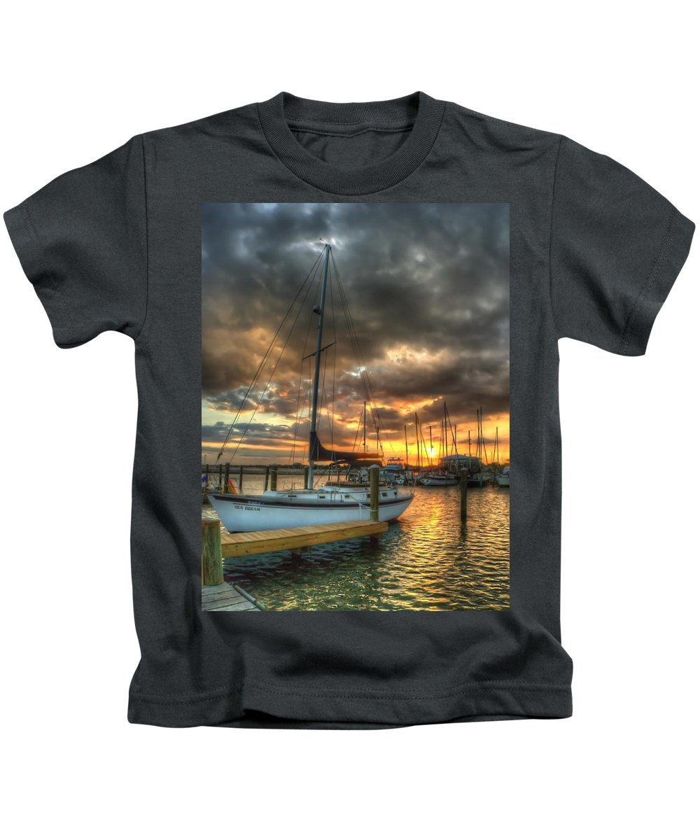 Sailboat Kids T-Shirt featuring the photograph Sea Dream by Beth Gates-Sully
