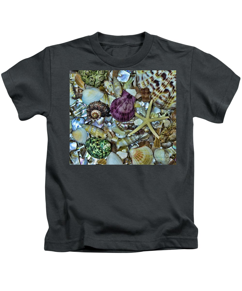 Shells Kids T-Shirt featuring the photograph Sea Treasure - Square Format by Paul Ward