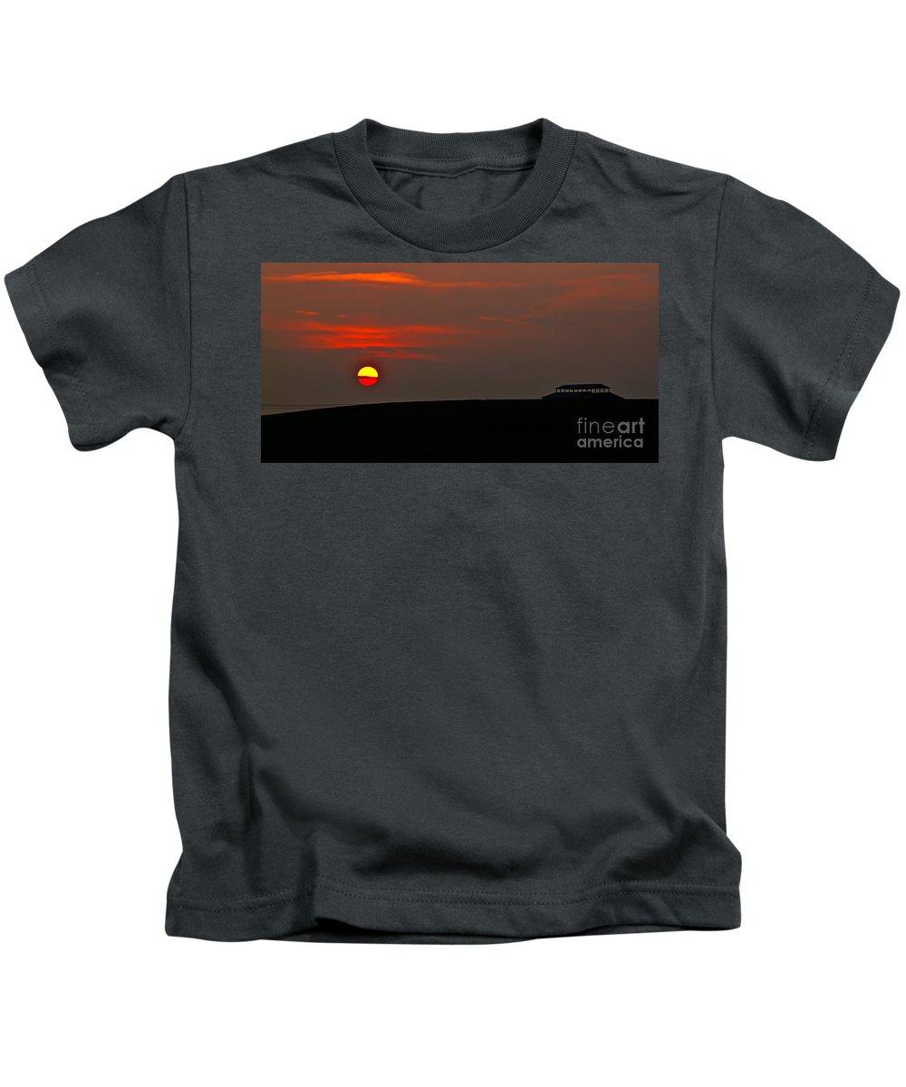 Sunset Kids T-Shirt featuring the photograph Setting Sun by Robert Bales