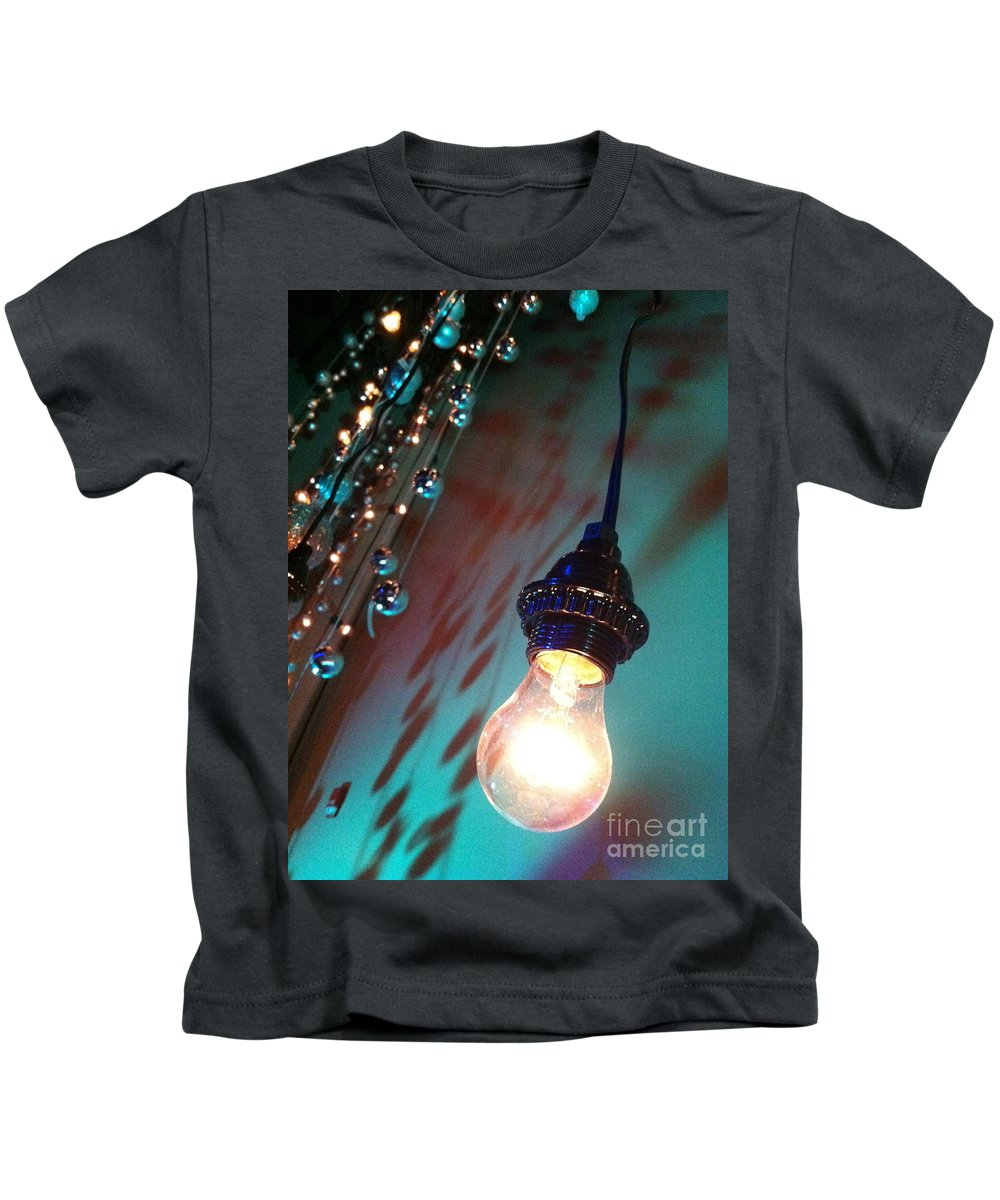 Lights Photographs Kids T-Shirt featuring the photograph Shadow Charm by Trish Hale