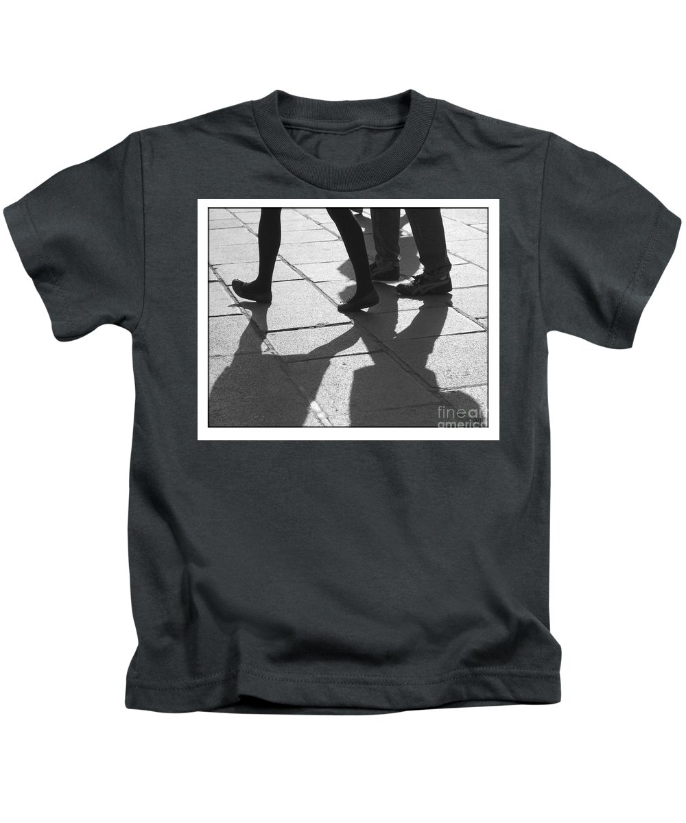 Digital Art Kids T-Shirt featuring the photograph Shadow People by Victoria Harrington