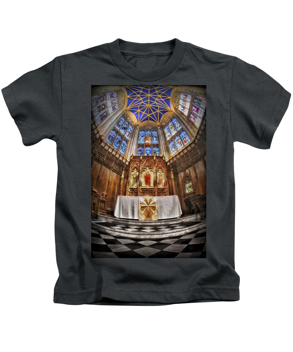 Church Kids T-Shirt featuring the photograph Shelter For Thy Soul by Evelina Kremsdorf