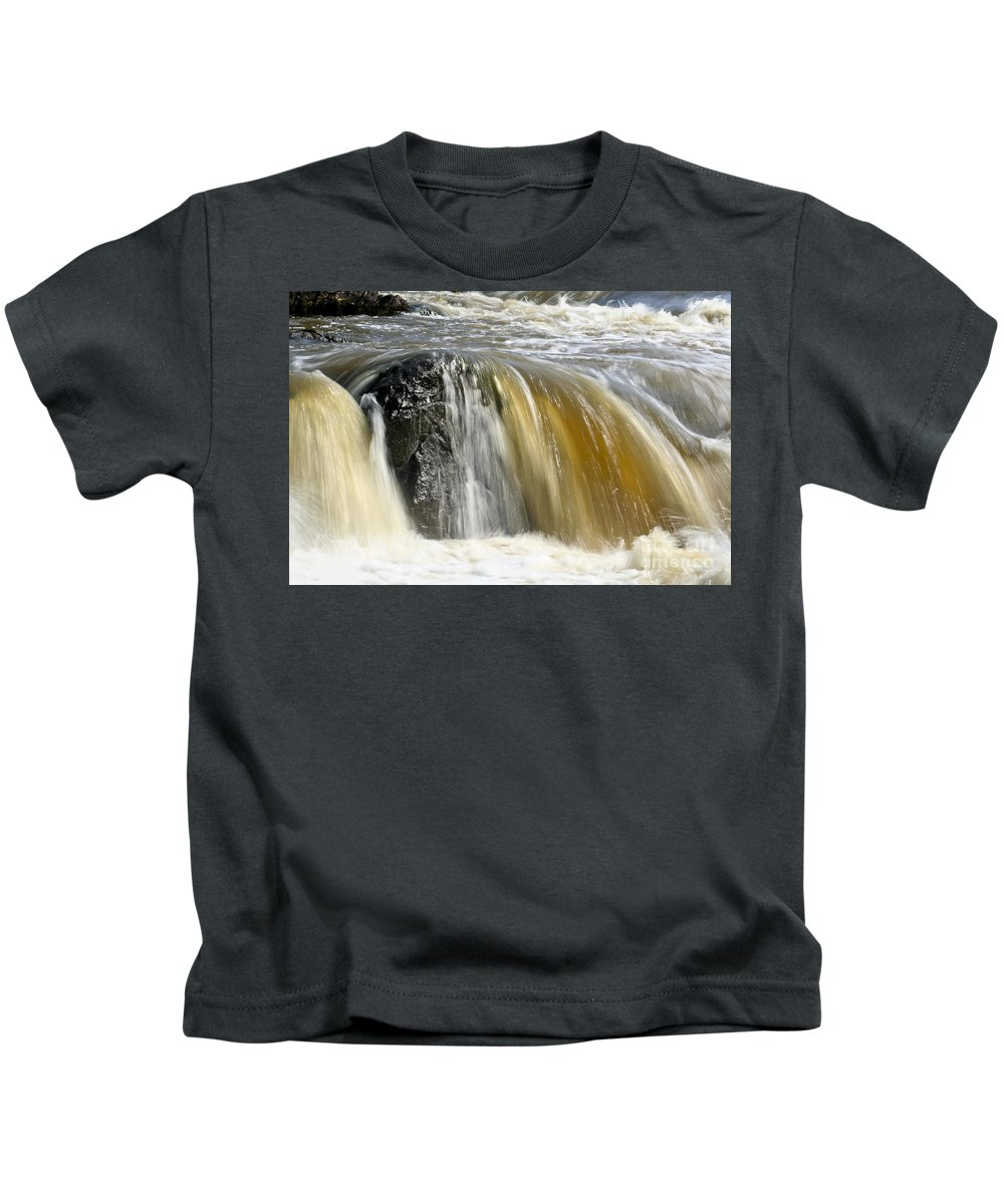 Rapids Kids T-Shirt featuring the photograph Silky Waters by Teresa Zieba