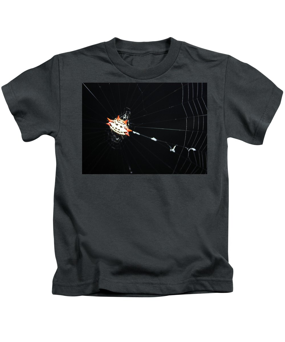 Crab Spider Kids T-Shirt featuring the photograph Smiley Crab Spider by Kristin Elmquist