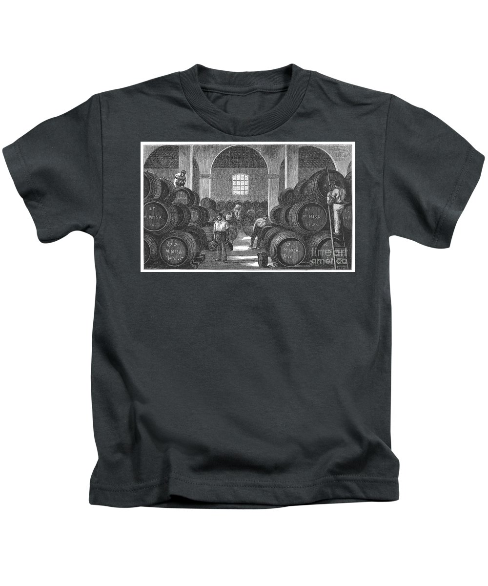 19th Century Kids T-Shirt featuring the photograph Spain: Winery by Granger