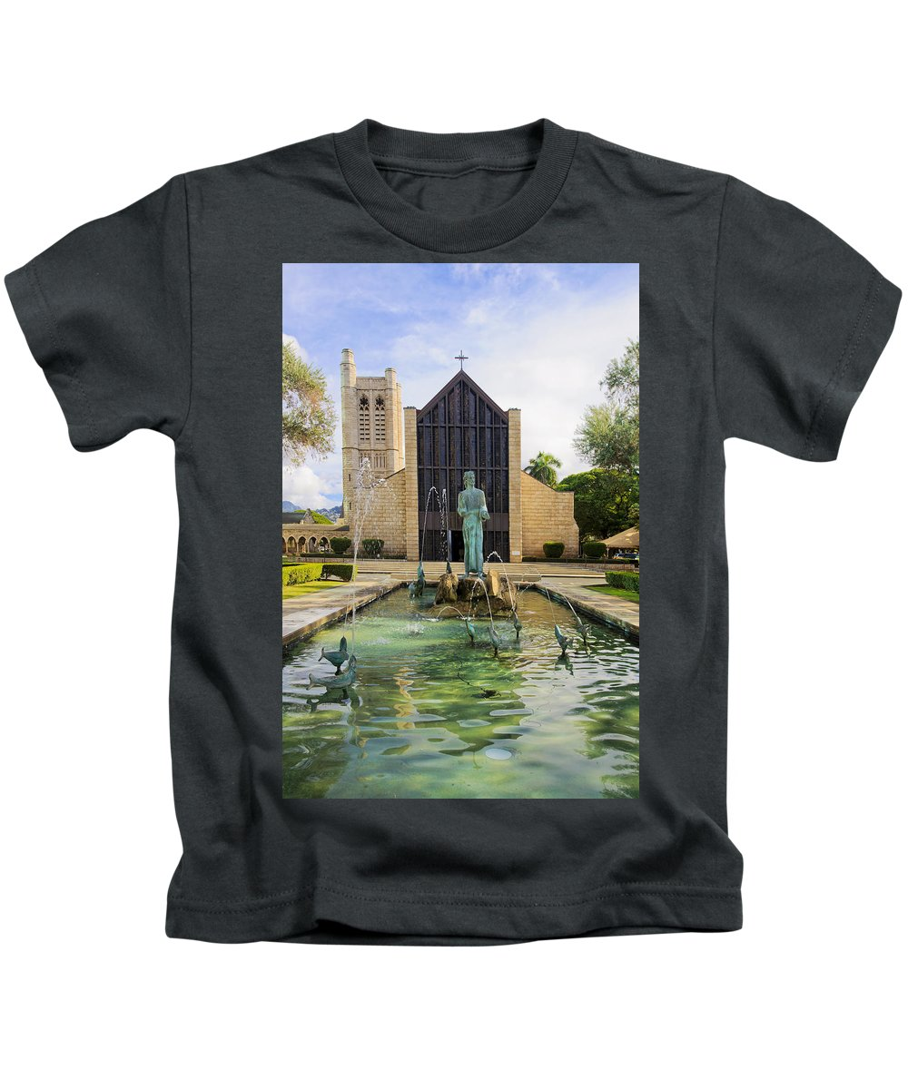 Andrew Kids T-Shirt featuring the photograph St. Andrews Cathedral by Tomas del Amo
