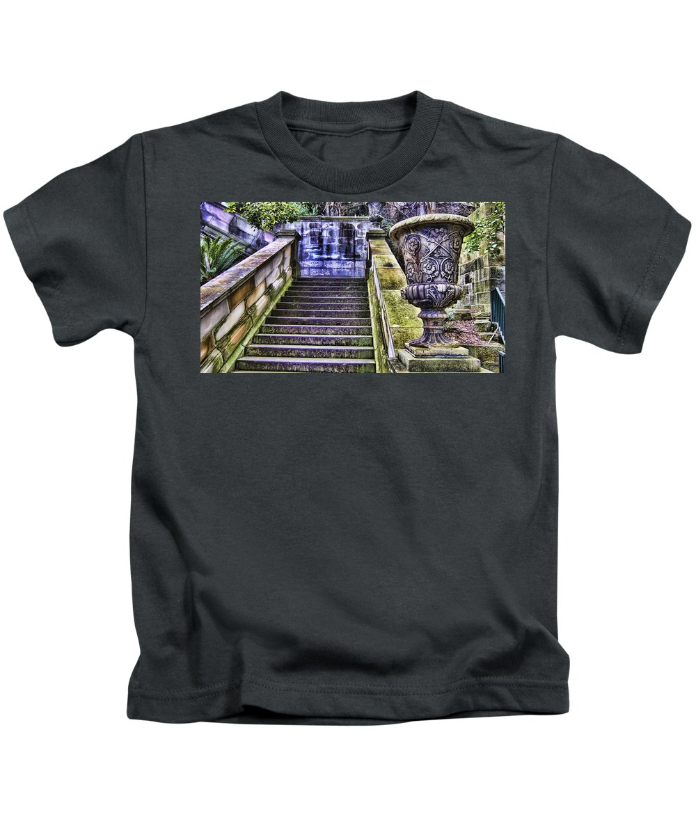 Stairway Kids T-Shirt featuring the photograph Stairway In Time by Douglas Barnard