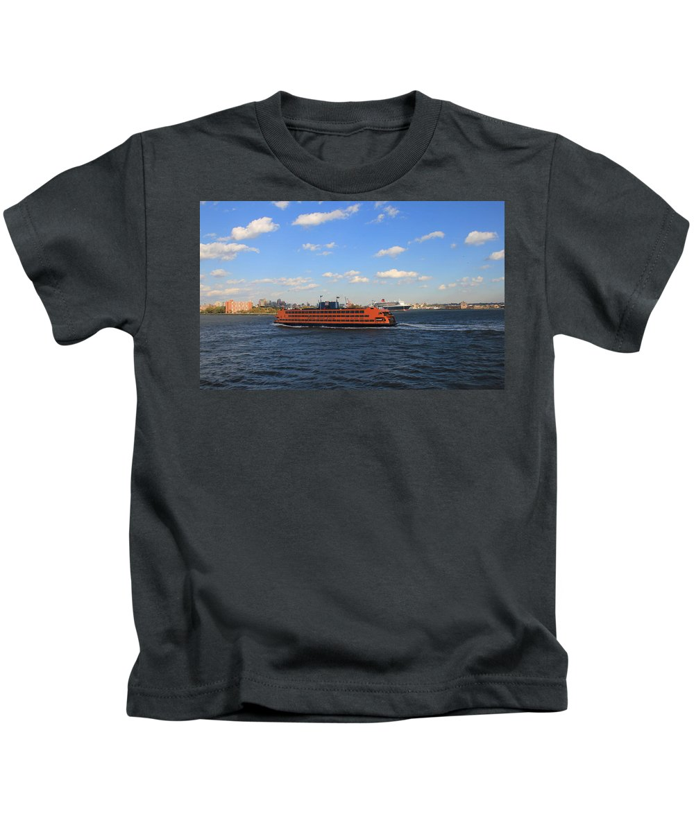 New York Kids T-Shirt featuring the photograph Staten Island Ferry by Andrew Fare