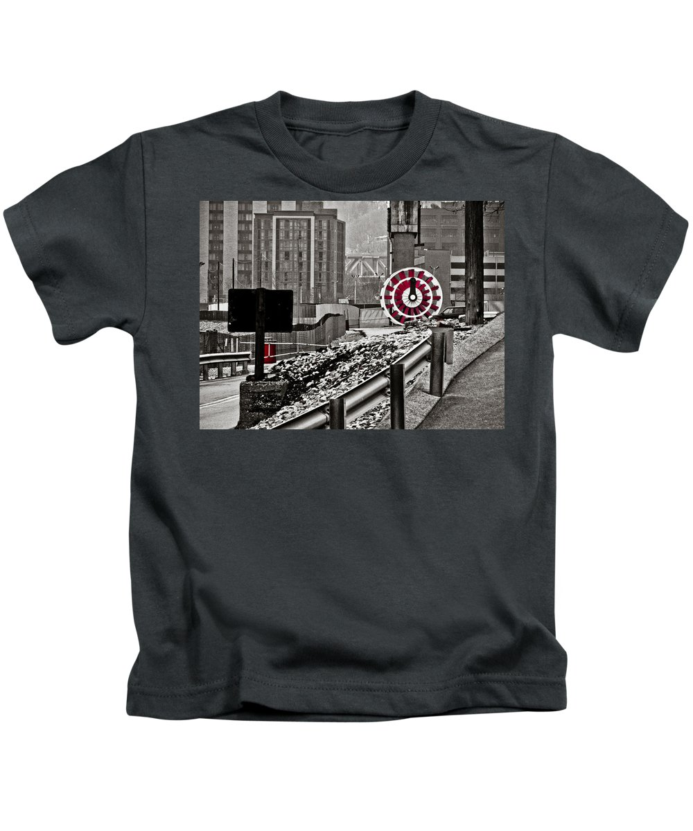 Pittsburgh Kids T-Shirt featuring the photograph Steamboat Streets by Jessica Brawley