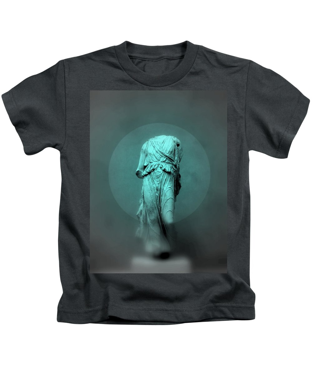 Figurine Kids T-Shirt featuring the photograph Still Life - Robed Figure by Kathleen Grace