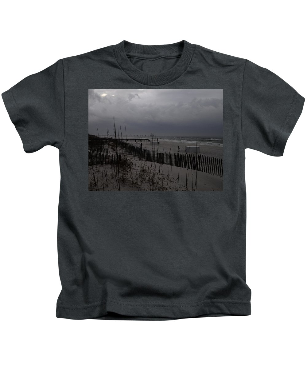 Storm Kids T-Shirt featuring the photograph Stormy Weather Swp by Jim Brage