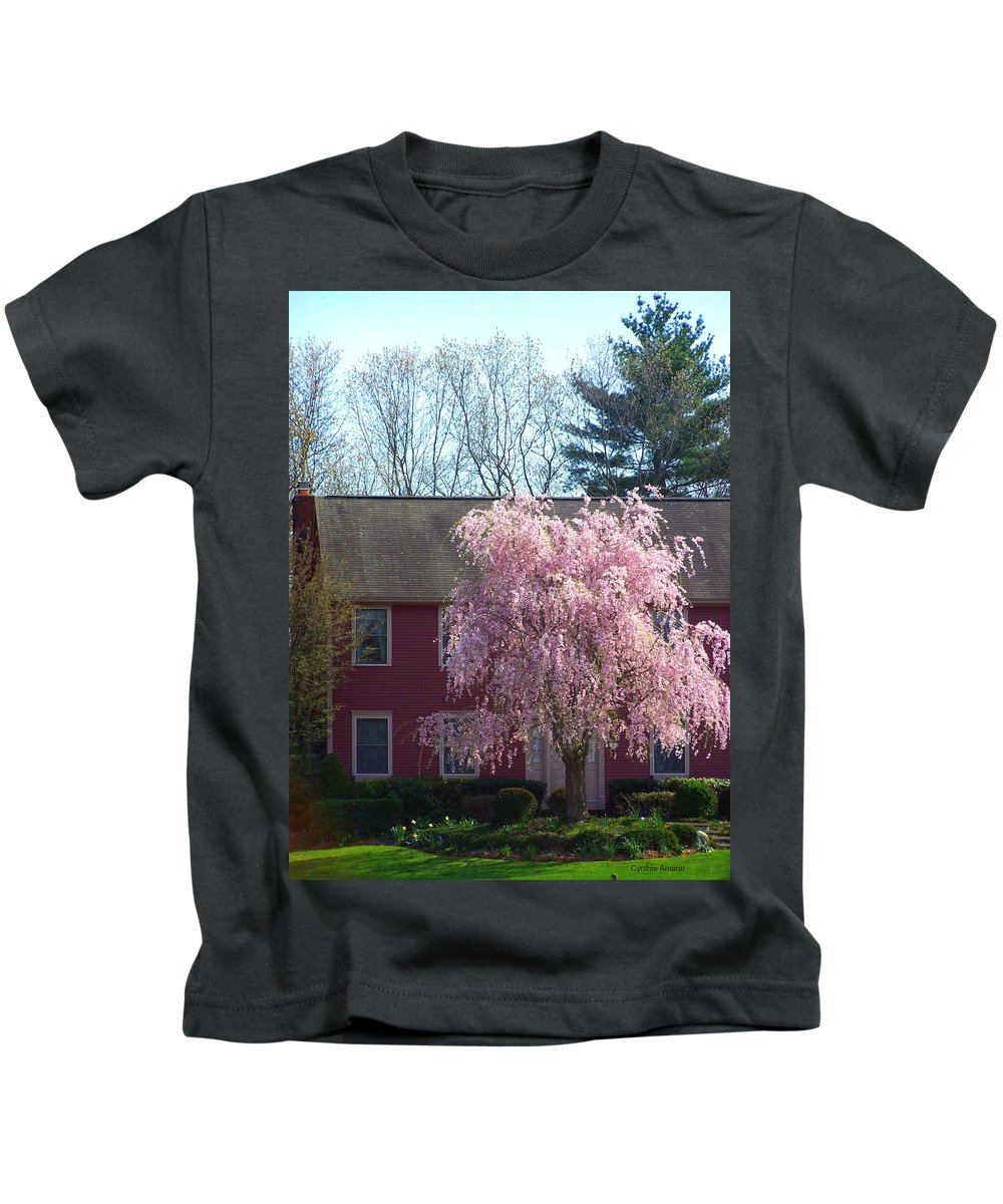 Flowered Trees Kids T-Shirt featuring the photograph Suburbanite by Cynthia Amaral