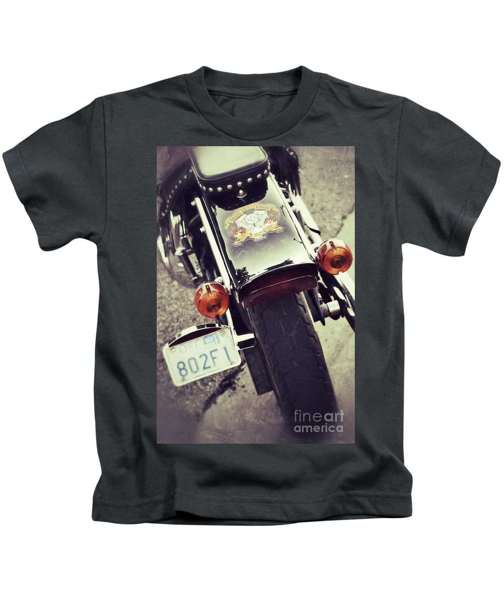 Motorcycle Kids T-Shirt featuring the photograph Summer Fever by Traci Cottingham