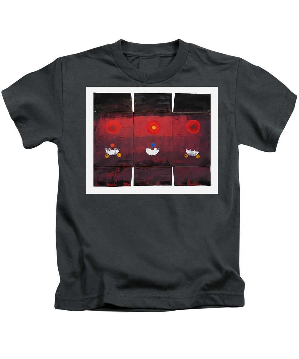 Sun Kids T-Shirt featuring the painting Sunarise by Charles Stuart