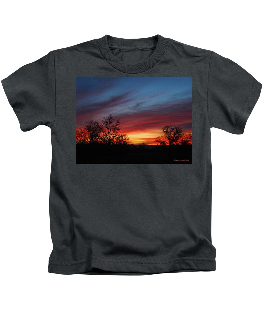 Sunrise Kids T-Shirt featuring the photograph Sunrise 12 31 11 by Joyce Dickens