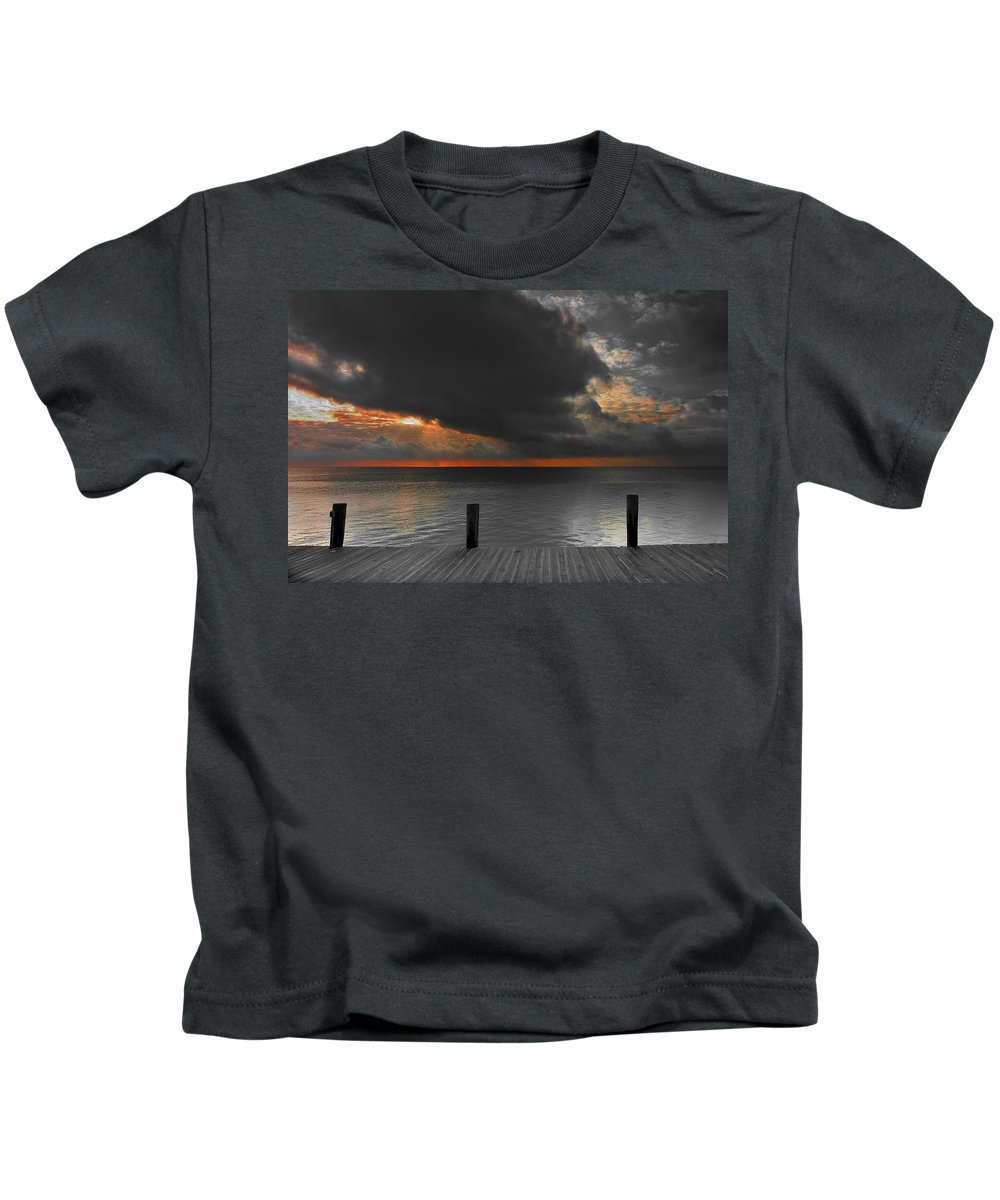 Art Kids T-Shirt featuring the photograph Sunrise On Key Islamorada by Randall Nyhof