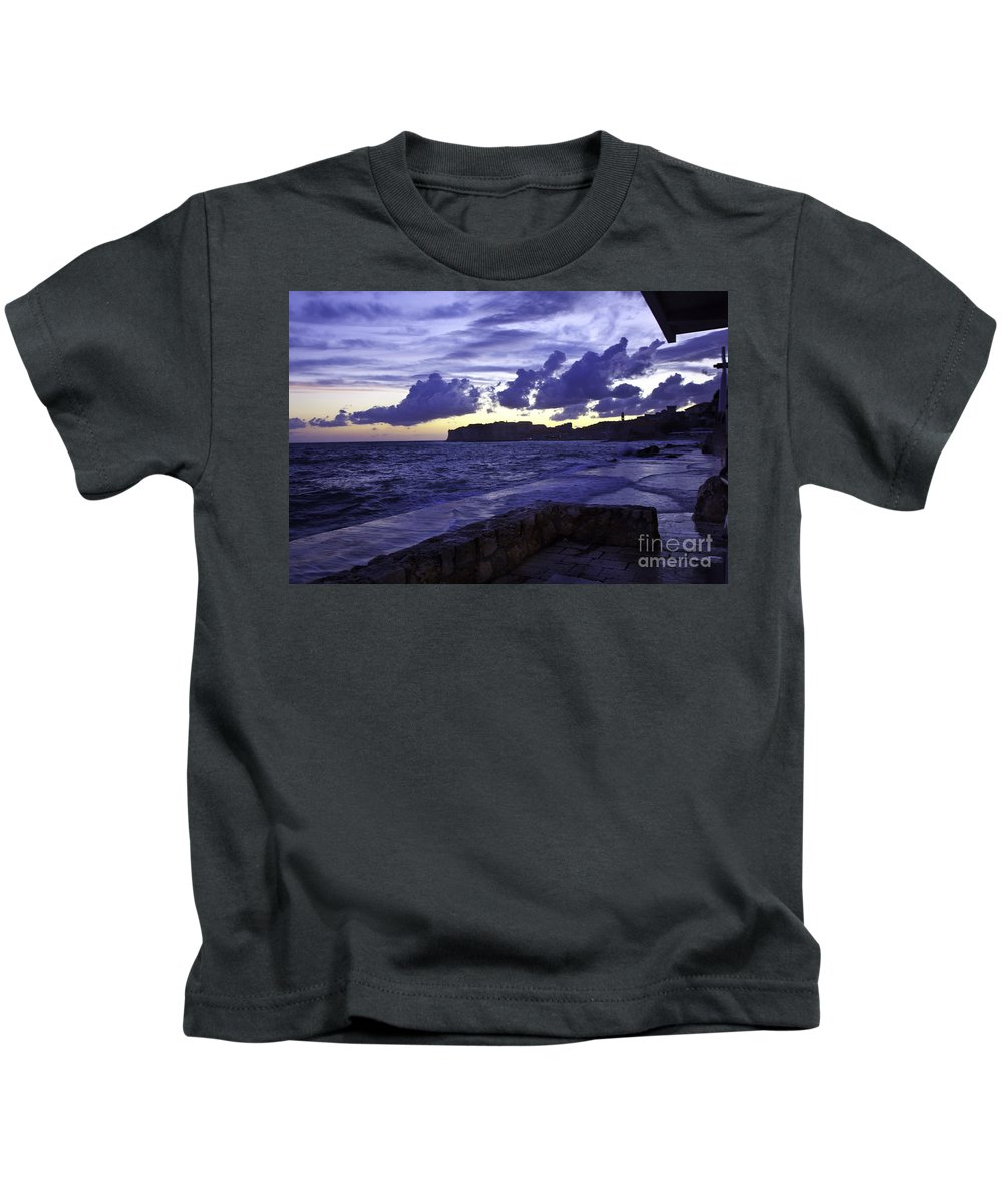 Sunset Kids T-Shirt featuring the photograph Sunset Over Dubrovnik by Madeline Ellis