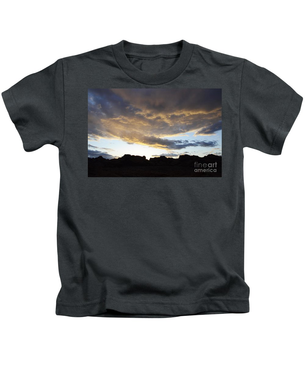 Sunset Kids T-Shirt featuring the photograph Sunset Valley Of Fire by Bob Christopher
