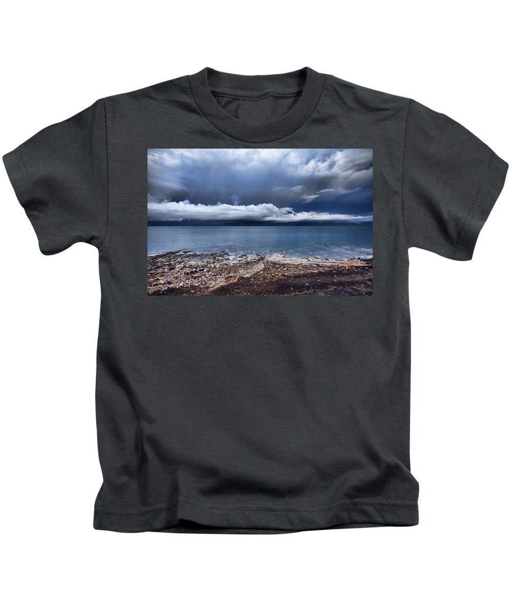 Cumulus Clouds Kids T-Shirt featuring the photograph Surface Clouds by Douglas Barnard