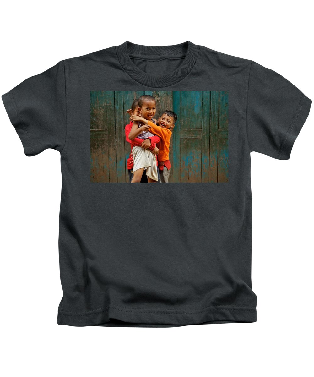 Children Kids T-Shirt featuring the photograph Survival Of The Fittest by Valerie Rosen
