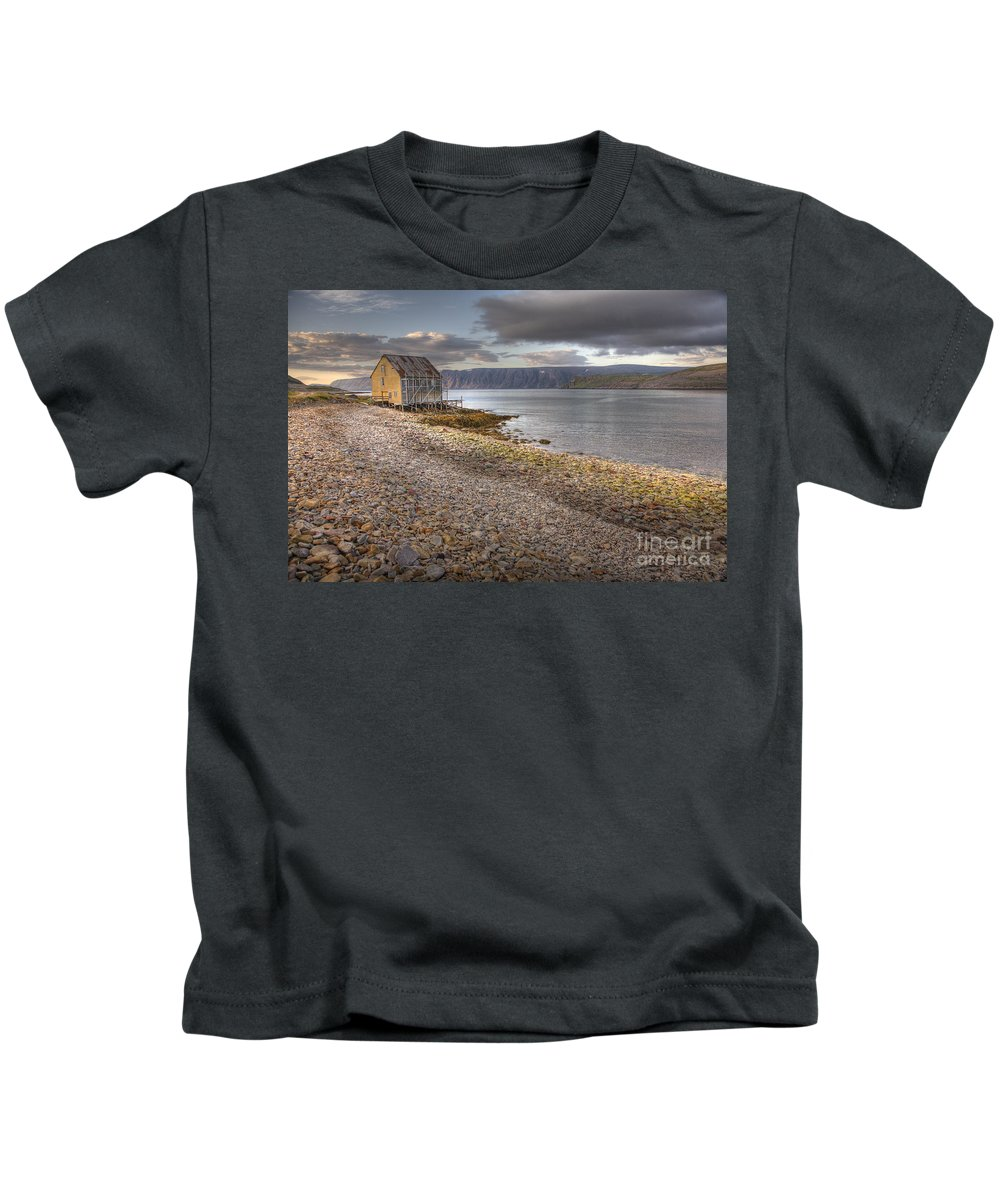 Hdr Kids T-Shirt featuring the photograph Syltefjord by Heiko Koehrer-Wagner