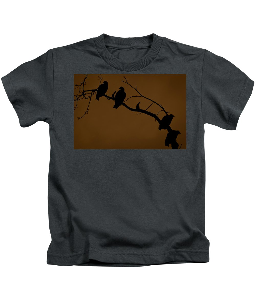 Vultures Kids T-Shirt featuring the photograph Take A Number by Kim Henderson