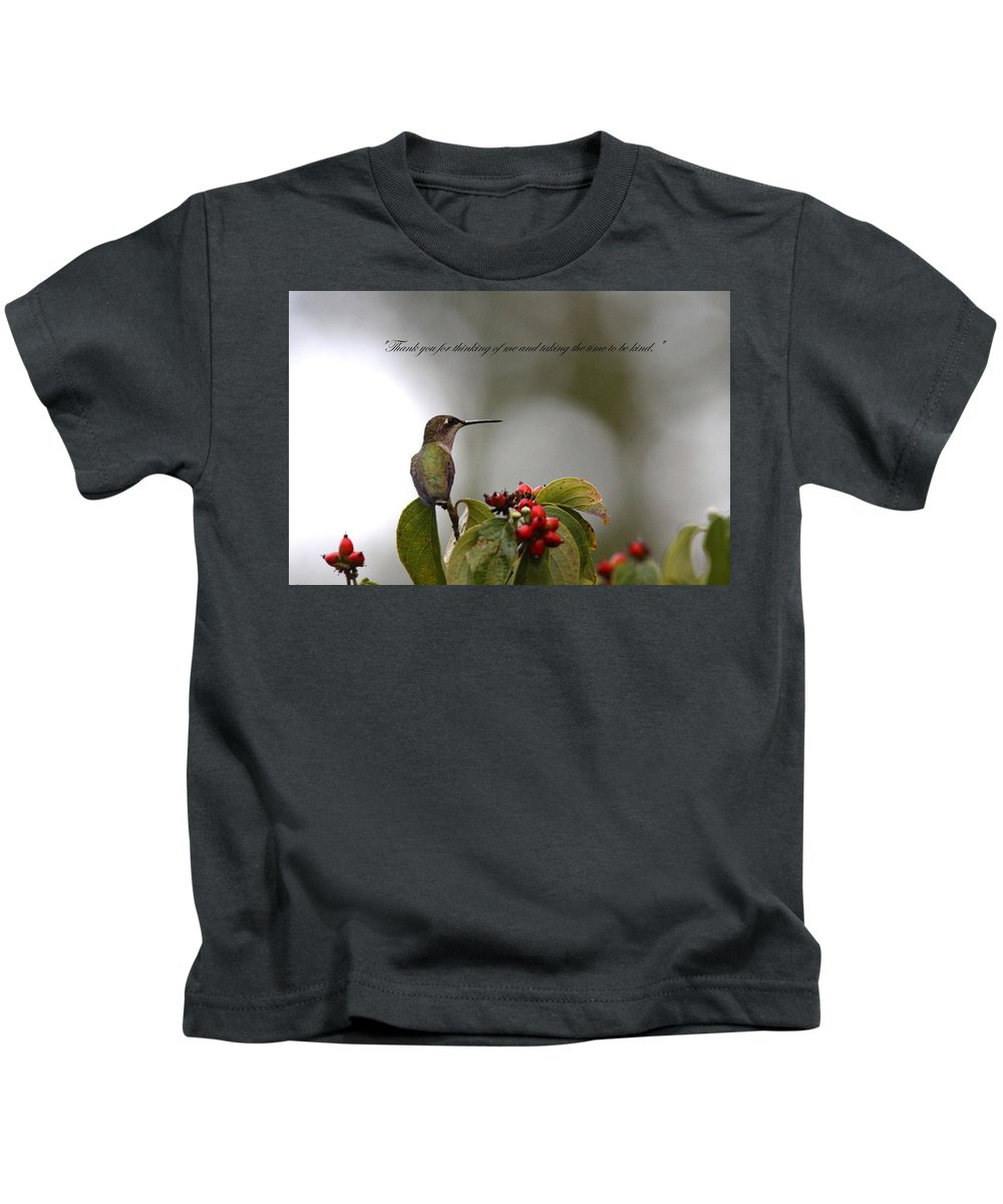 Thank You Note Kids T-Shirt featuring the photograph Thank You Note by Travis Truelove