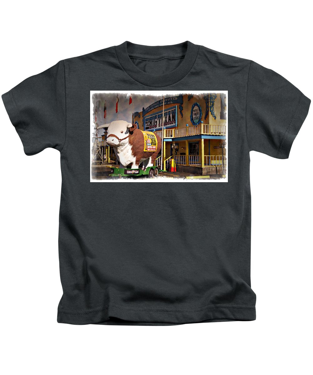 Big Kids T-Shirt featuring the photograph The Big Texan - Impressions by Ricky Barnard