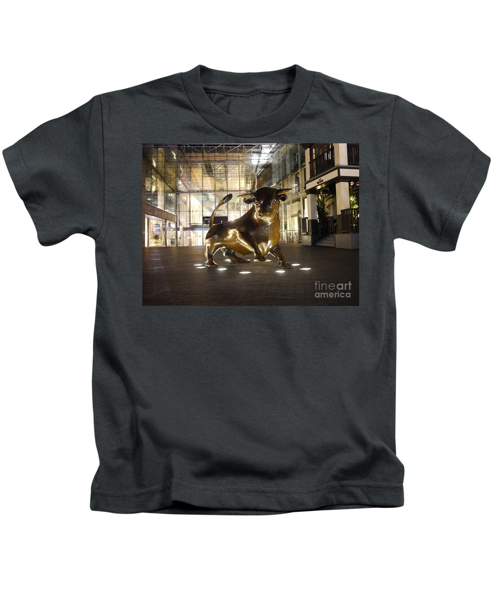 The Bull Kids T-Shirt featuring the photograph The Bull by John Chatterley