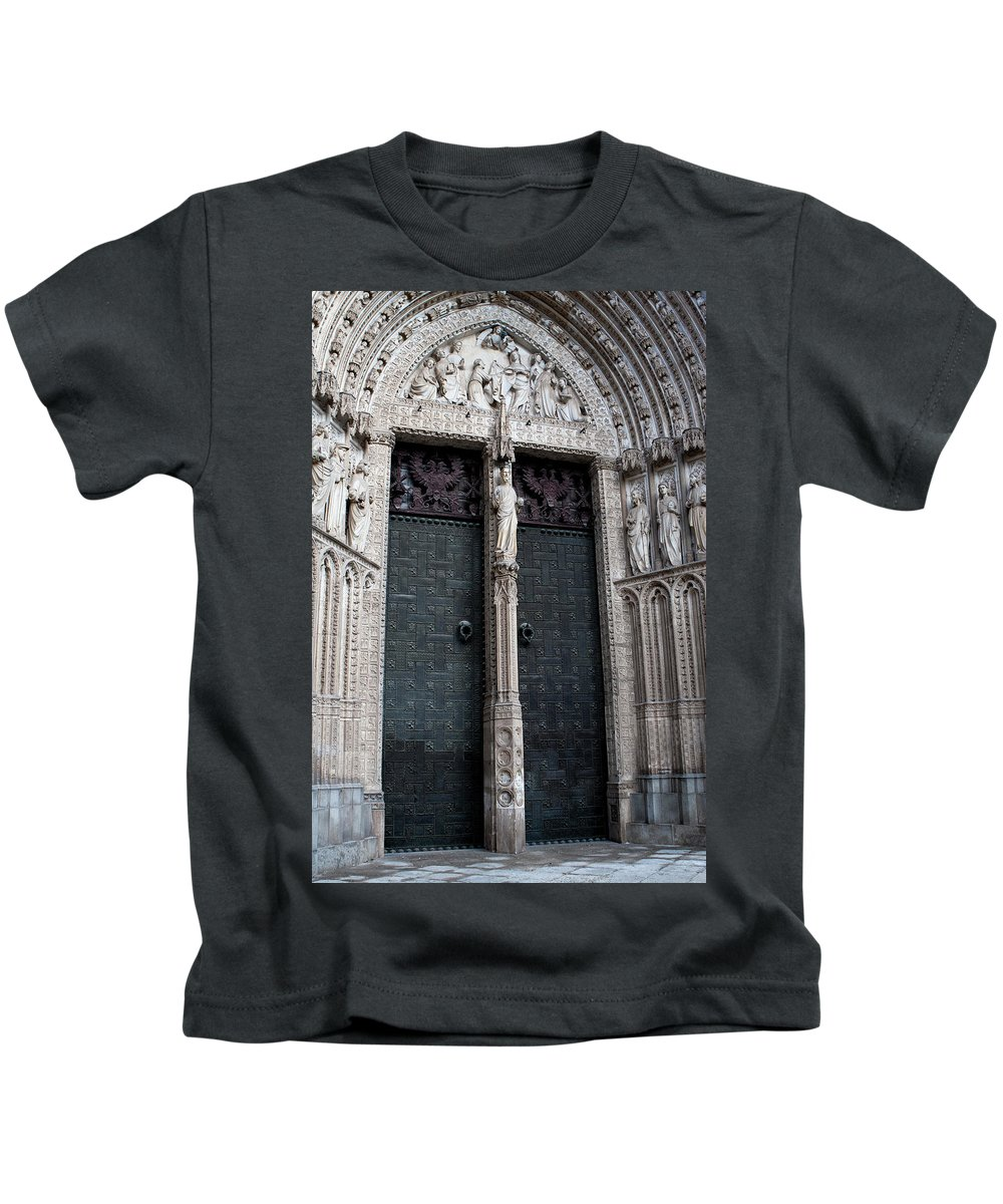 Toledo Kids T-Shirt featuring the photograph The Door Of Forgiveness by Lorraine Devon Wilke