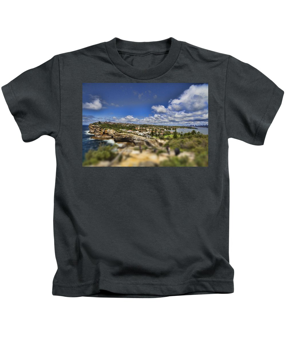 Sydney Harbor Kids T-Shirt featuring the photograph The Great Divide by Douglas Barnard