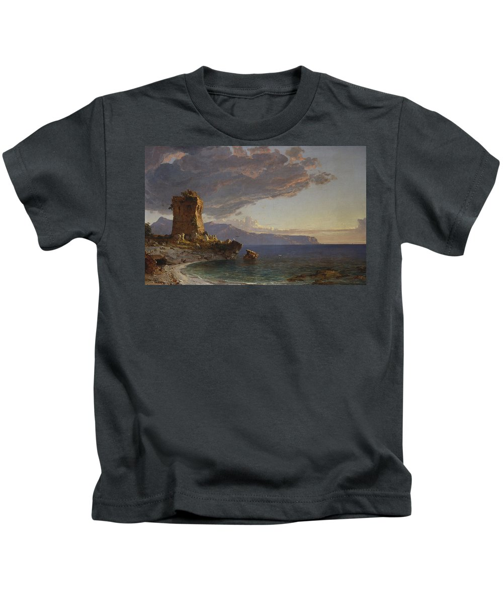 The Isle Of Capri Kids T-Shirt featuring the painting The Isle Of Capri by Jasper Francis Cropsey