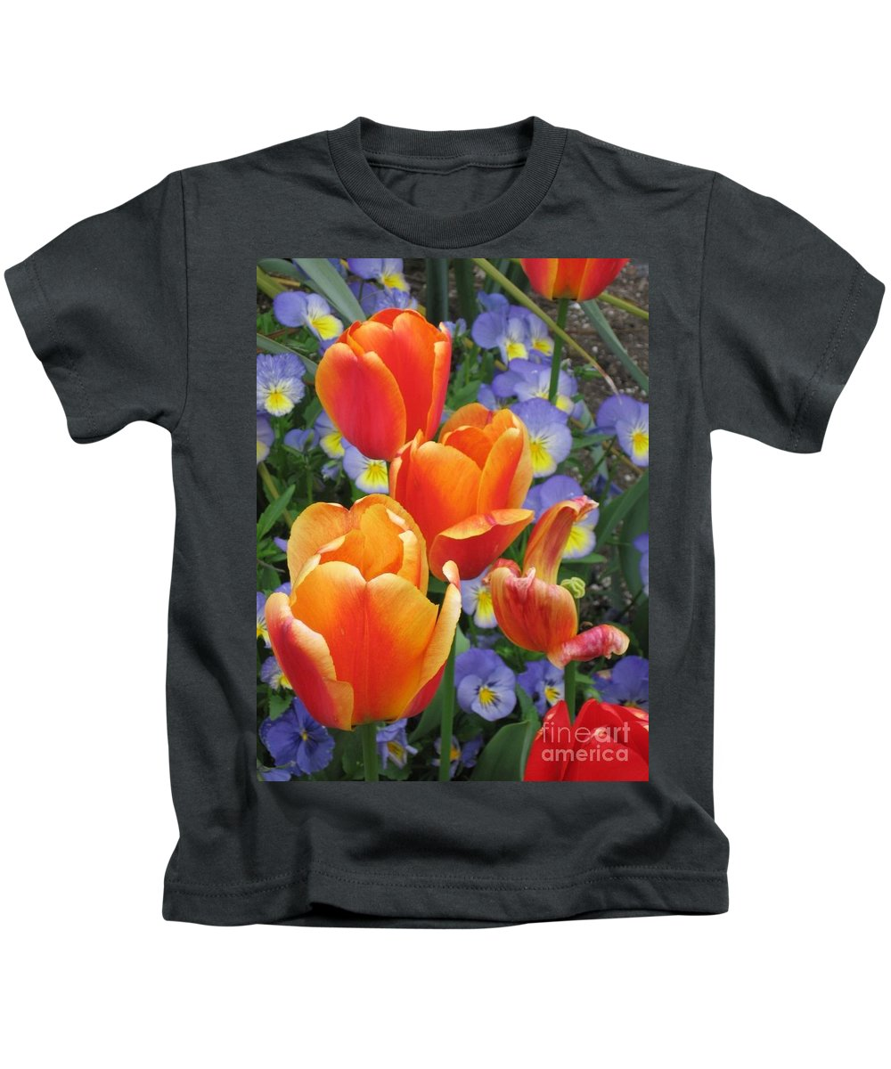 Tulips Kids T-Shirt featuring the photograph The Secret Life Of Tulips - 2 by Rory Sagner