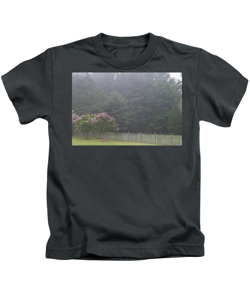 Nature Kids T-Shirt featuring the photograph The Swing Set by Paulette B Wright