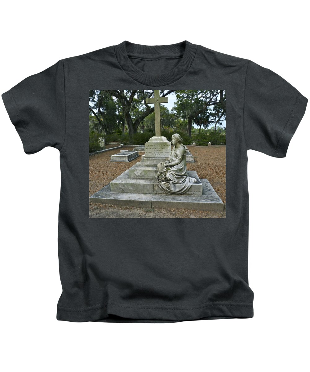 Cemetery Kids T-Shirt featuring the photograph The Watcher by Catherine Conroy