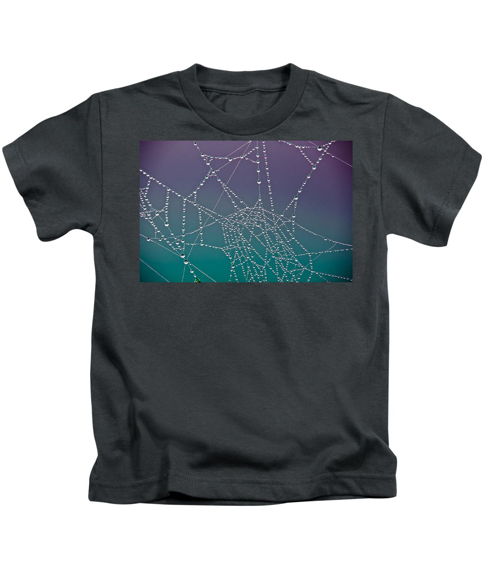Abstract Kids T-Shirt featuring the photograph The Web by Joye Ardyn Durham