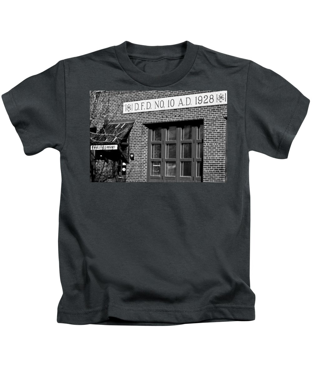 Brick Kids T-Shirt featuring the photograph Then And Now by Colleen Coccia