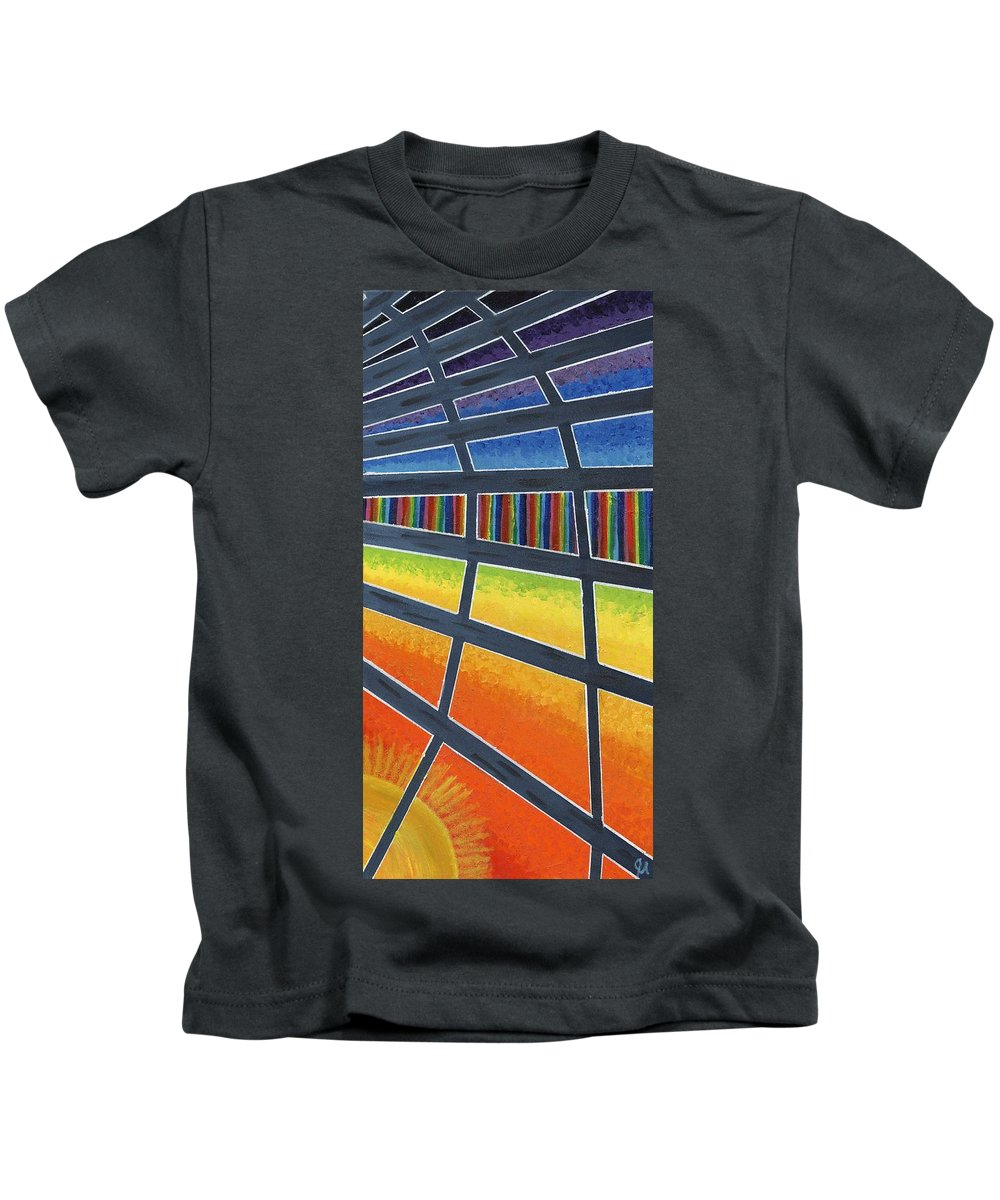 Windows Kids T-Shirt featuring the painting Through The Windows Of The Ship by Jeremy Aiyadurai
