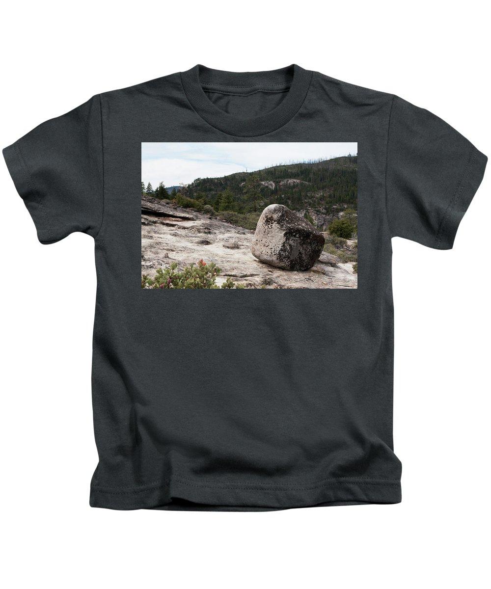 Yosemite National Park Kids T-Shirt featuring the photograph Tilted Rock by Lorraine Devon Wilke