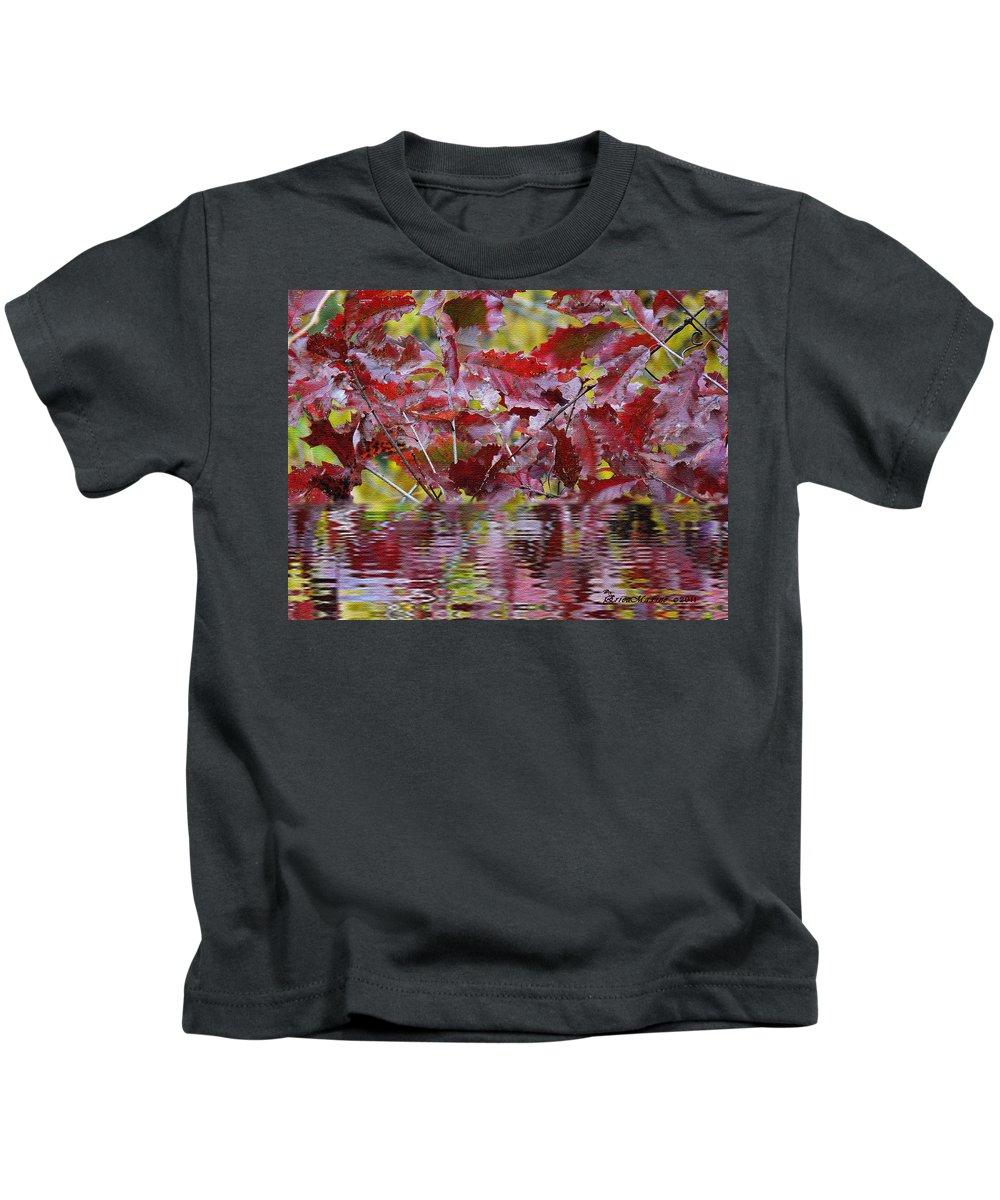 Tn Kids T-Shirt featuring the digital art Tn Fall Water by Ericamaxine Price