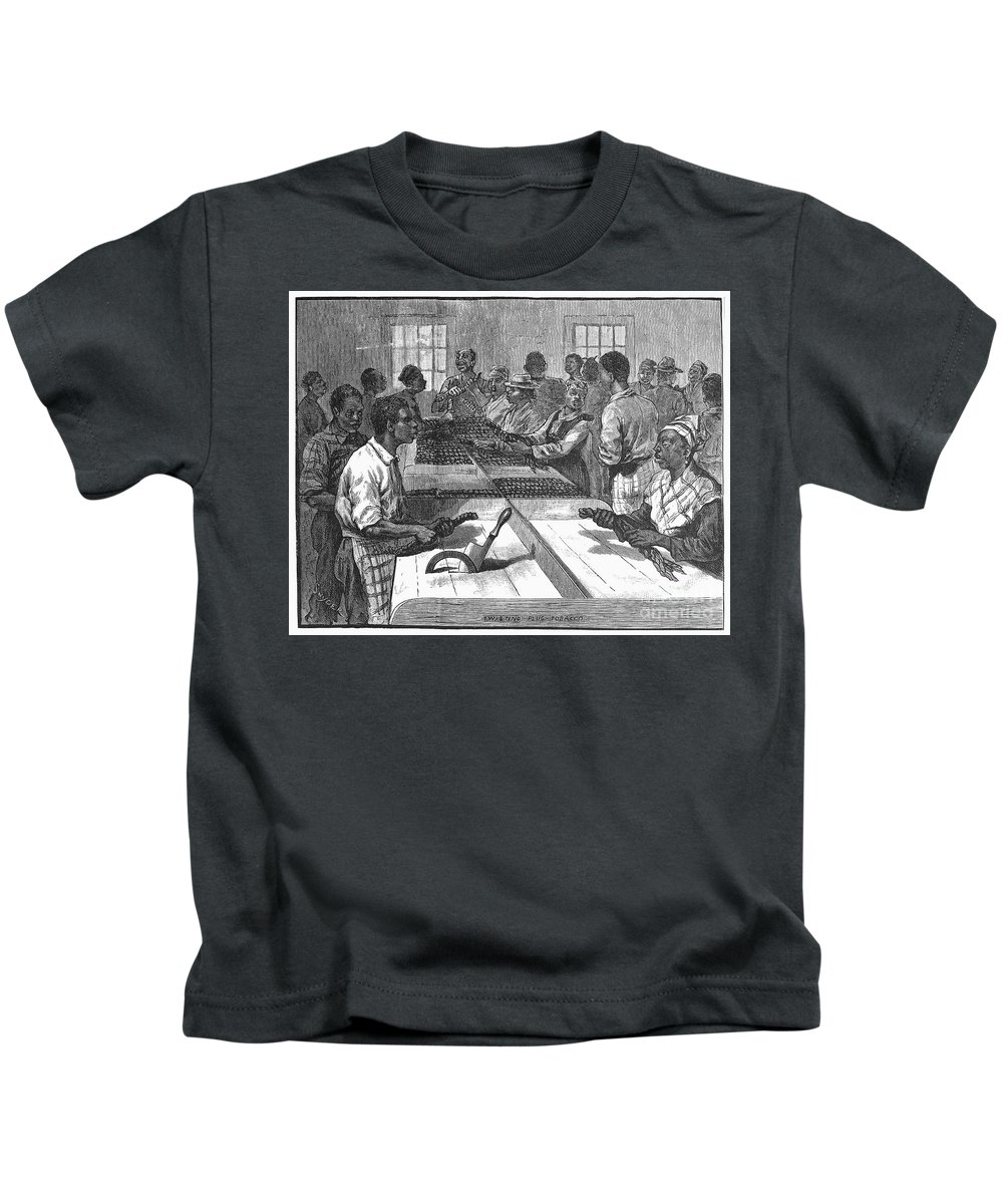 1879 Kids T-Shirt featuring the photograph Tobacco: Twisting, 1879 by Granger