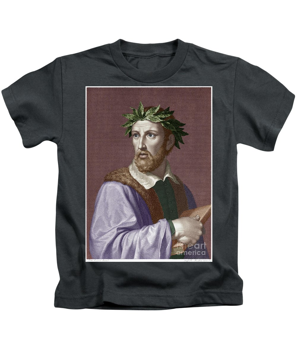 16th Century Kids T-Shirt featuring the photograph Torquato Tasso (1544-1595) by Granger