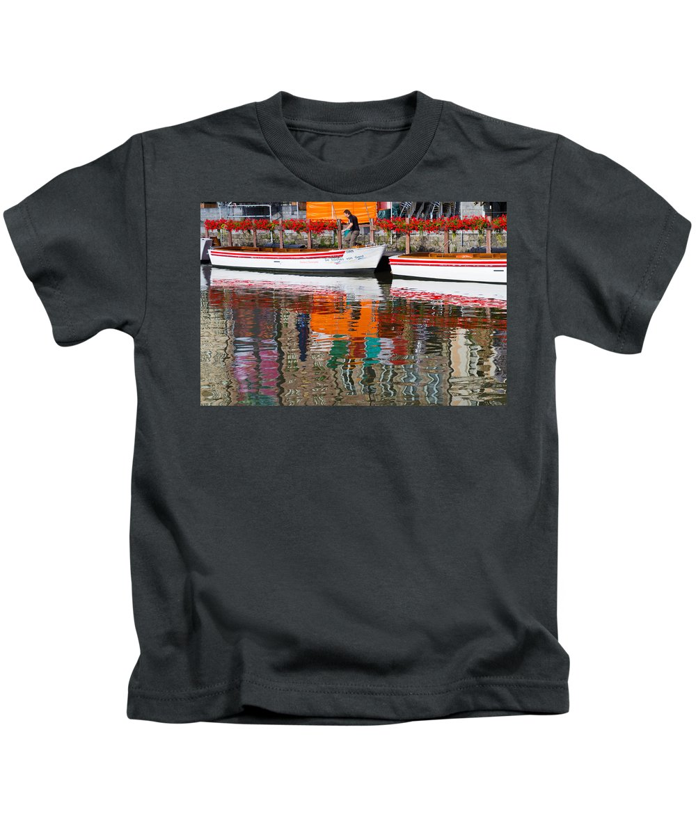 Europe Kids T-Shirt featuring the photograph Tour Boat by David Freuthal